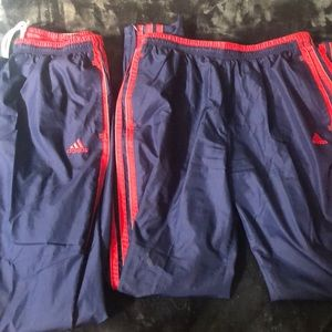 Navy & Red Adidas Trackpants